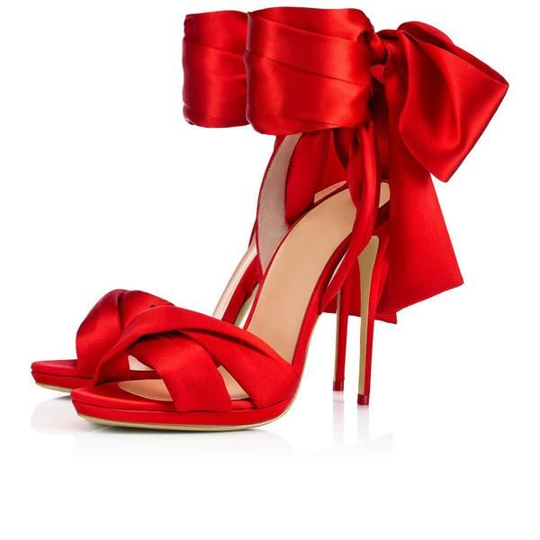 Red High Heel Bow
