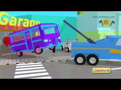 Wheels on the bus song with a Tow truck and LEGO theme