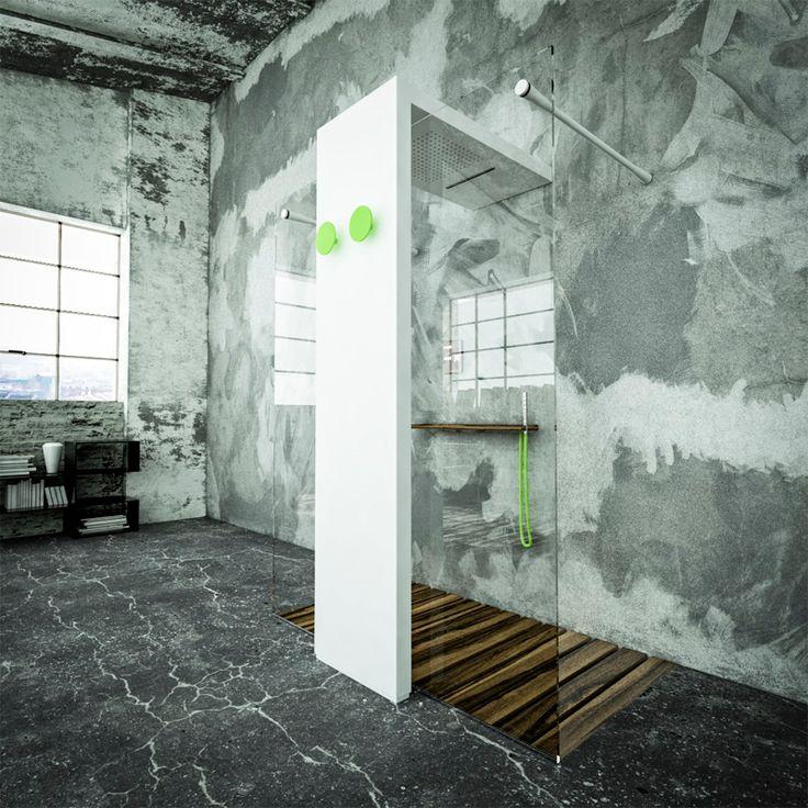 Il termoarredo protagonista della stanza da bagno: Monolite gets light by Brandoni