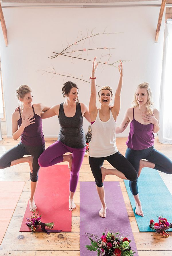 A yoga bridal shower in Bend, Oregon | Photos by Erica Swantek