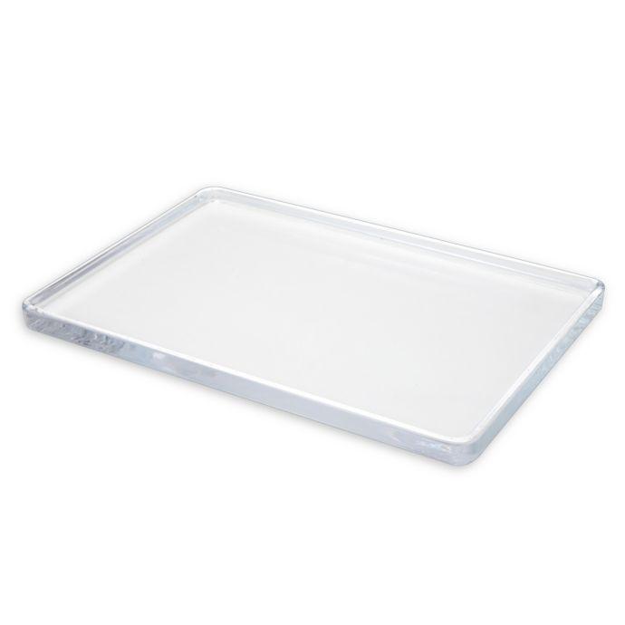 Chelsea Large Glass Vanity Tray | Bed Bath & Beyond | Glass vanity