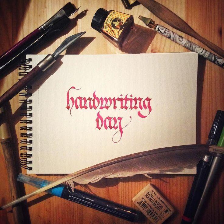 Little late#handwritingday #handwriting #calligraphy #каллиграфия #calligraphyart #calligritype #tyxca #fraktur #gothicscript #calligraphylettering #typism #typeyeah #kaligrafie #фрактура #dailytype