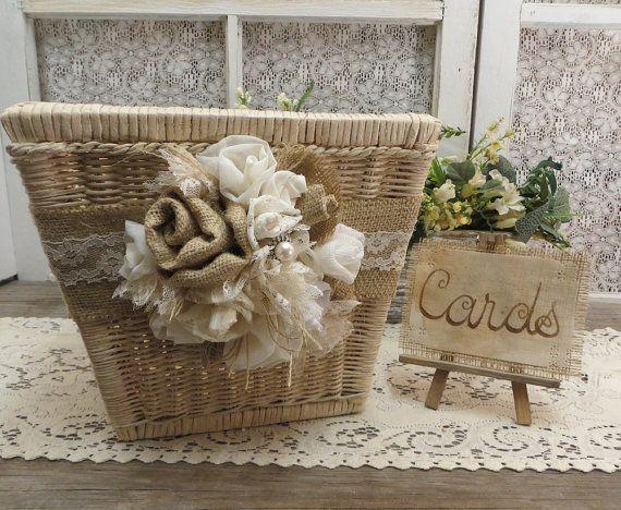 Medium Sized Wedding Card Basket by Thequirkycorncrib on Etsy, $50.00