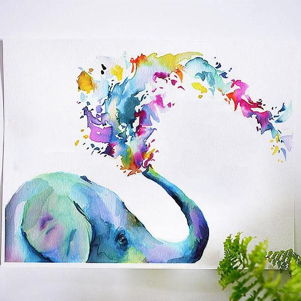 Rainbow Elephant Watercolor Kit In 2020 Watercolor Kit Let S