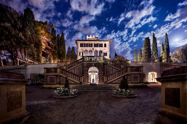 Florence, Italy | A genially restored 15th-century Renaissance villa nestled amidst the picturesque hills of Fiesole, Il Salviatino looks and feels like a miniature Tuscan palazzo.