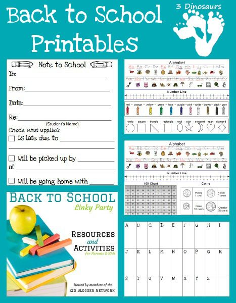 FREE Back to School Printables includes an awesome note to teachers