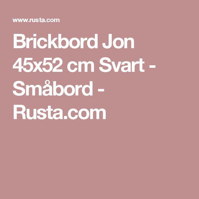 Brickbord Jon 45x52 cm Svart - Småbord - Rusta.com