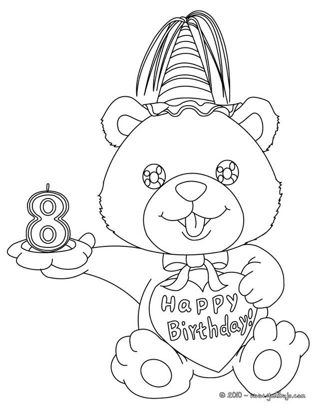 Dibujos Para Colorear Ninos 8 Anos Birthday Coloring Pages Unicorn Coloring Pages Happy Birthday Coloring Pages