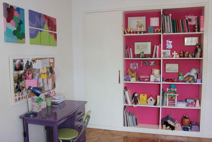 Pretty in Pink Bookshelves