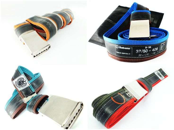 """Punctured"" bicycle inner tube belts on Recyclart!"