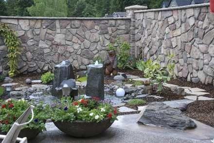 A nice garden stone fence DIGit GARDEN Pinterest
