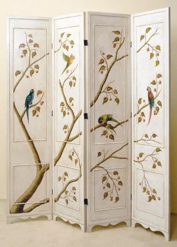 Asian Elegance 4-Panel Room Screen
