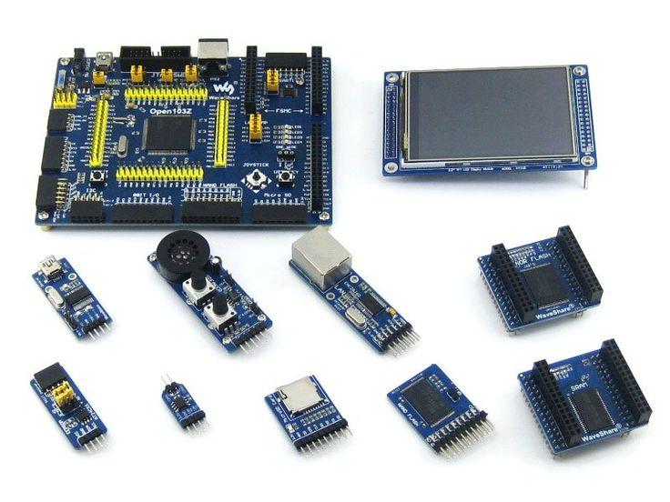 Open103Z Package A # STM32 Board ARM Cortex-M3 STM32F103ZET6 3.2inch 320x240 Touch LCD + 9pcs Modules PL2303 USB UART Ethernet