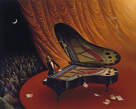 """""""Moonlight Sonata"""" My favorite Vladimir Kush painting                                                                                                                                                      More"""