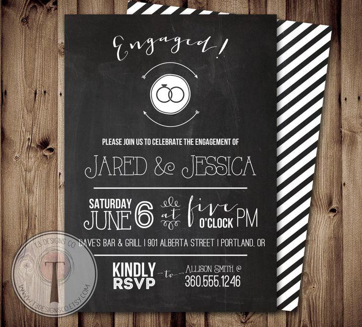54 best engagement invitations images – Personalised Engagement Party Invitations