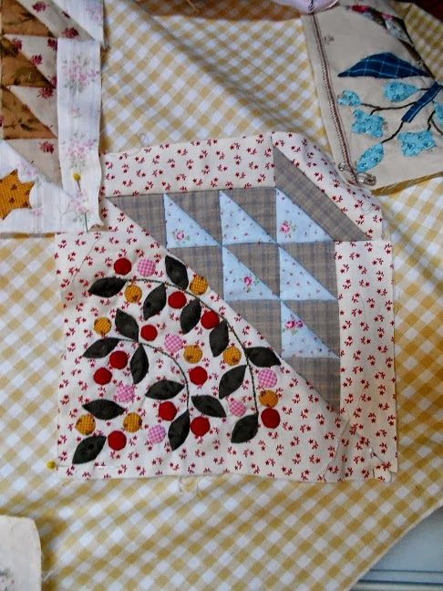 Gorgeous block from Sweet William made by Supergoof Quilts