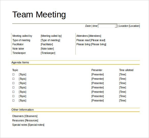 Oltre 25 fantastiche idee su Meeting agenda template su Pinterest - format of meeting agenda