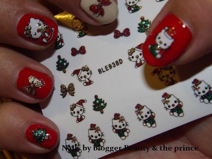 Charlies Nail Art - Glitter hello kitty xmas nail stickers, £1.00 (http://www.charliesnailart.co.uk/glitter-hello-kitty-xmas-nail-stickers/)