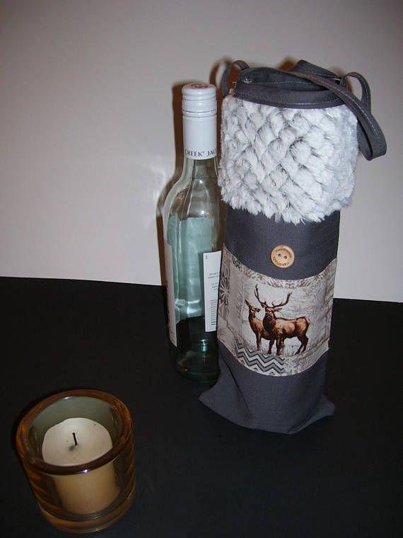 WINE GIFT BAG  moose wine bag  moose wine gift bag  wine