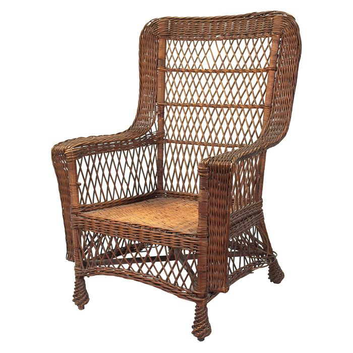 Substitute For The Museum S Wicker Chair Antique Gustav Stickley Armchair 58 In Woven Willow