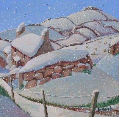 British Artist Jo MARCH-Snowed In ..... looks so much like the English cottage in 'The Holiday' movie!