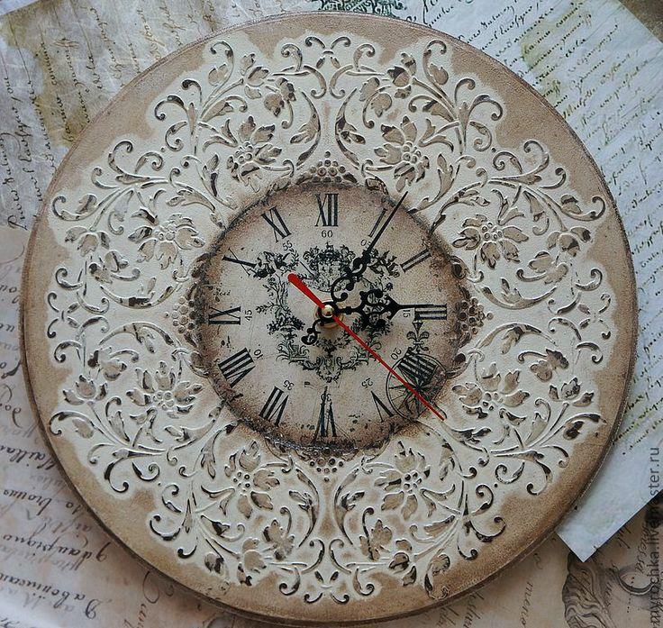 """Часы для дома ручной работы. Ярмарка Мастеров - ручная работа Часы """" Узоры времени II """". Handmade."""