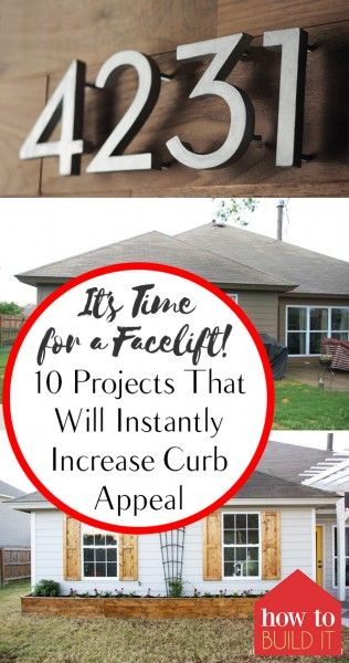 It's Time for a Facelift: 10 Projects That Will Instantly Increase Curb Appeal – How To Build It| Curb Appeal Projects, Curb Appeal Projects for the Home, Home Projects, Outdoor DIY, Yard and Landscaping Tips, Fast Home Improvement Projects, DIY Home Improvement Projects