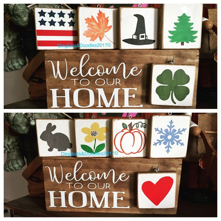 Welcome Sign • Welcome To Our Home • Interchangeable