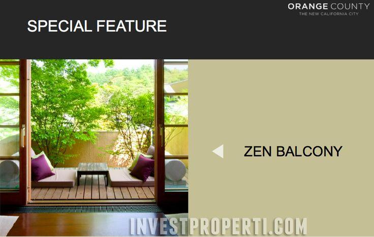 Zen balcony Orange County Glendale Park Cikarang