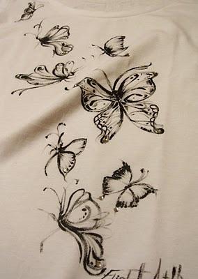t.shirt farfalle