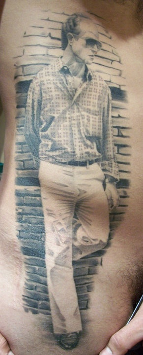 Check out the detail in the plaid shirt! Credit: Ronan Gibney || Imperial Tattoo