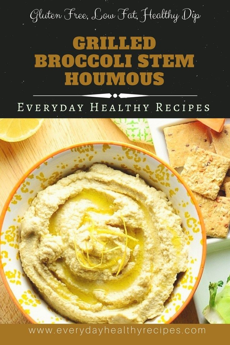 Grilled Broccoli Stem Houmous by @monika8021 #CookBlogShare