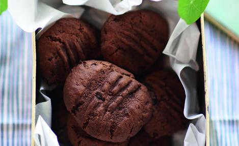 Double Dark Chocolate Chunk Cookies