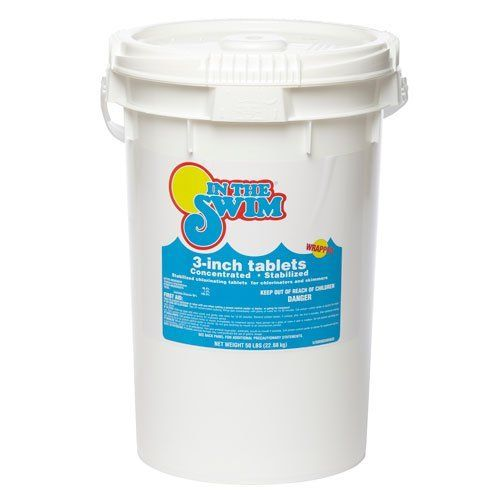 In The Swim 3 Inch Pool Chlorine Tablets 50 Lbs. In The Swim 3 Inch