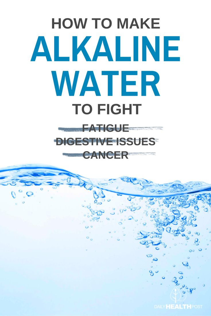 How To Make Alkaline Water To Fight Fatigue, Digestive Issues And Cancer via @dailyhealthpost
