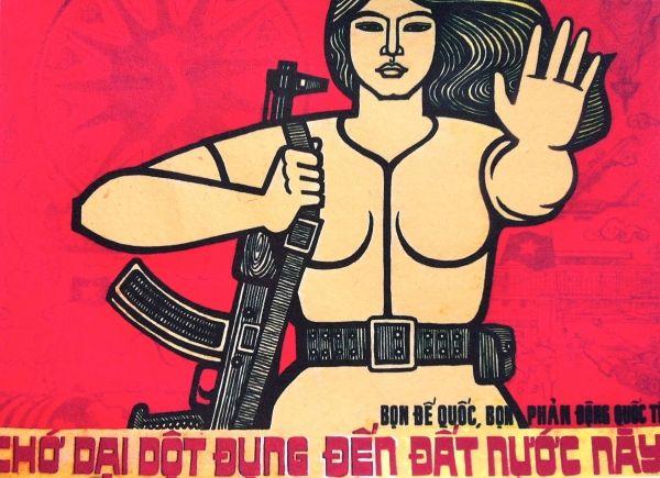 Vietnamese Propaganda Poster ArtCommunist PropagandaPolitical PostersNorth