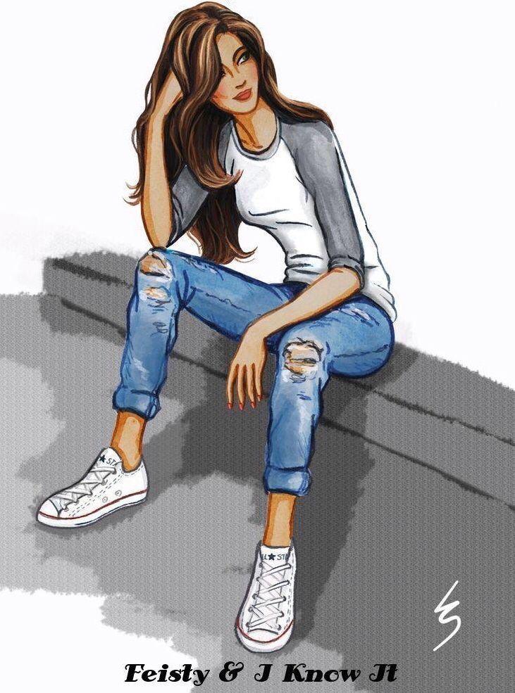 Chica sentada Dibujo