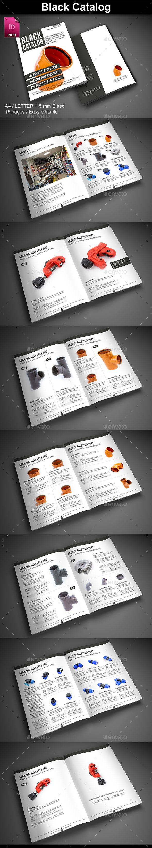 Black Catalog Template #design Download: http://graphicriver.net/item/black-catalog/12587139?ref=ksioks