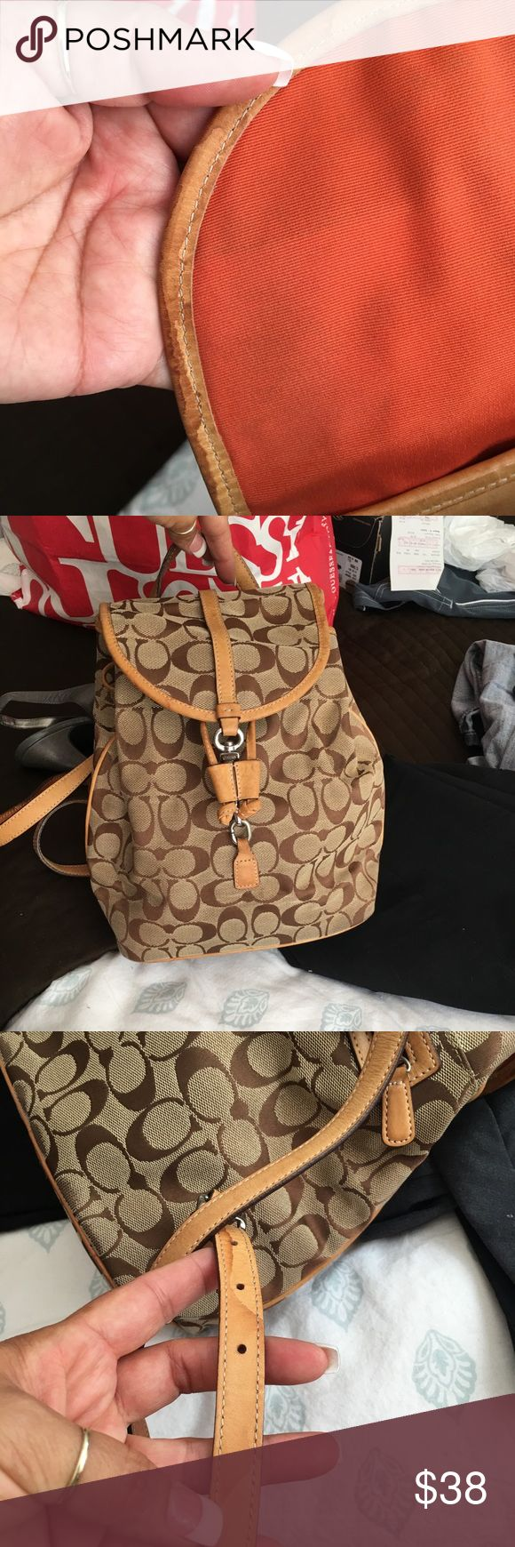 Authentic coach purse backpack/ used Authentic backpack -Coach just needs cleaning Coach Bags Backpacks