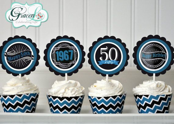 Cupcake Decorating Ideas For 50th Birthday : 17 Best ideas about 50th Birthday Cupcakes on Pinterest ...