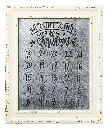 Take a frame. Paint the glass on the back side with to look like mercury glass. Use sharpie to write on glass to mark off the days!