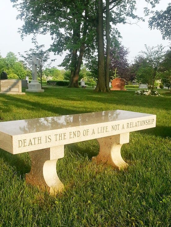 Bench In A Cemetery Grave Things