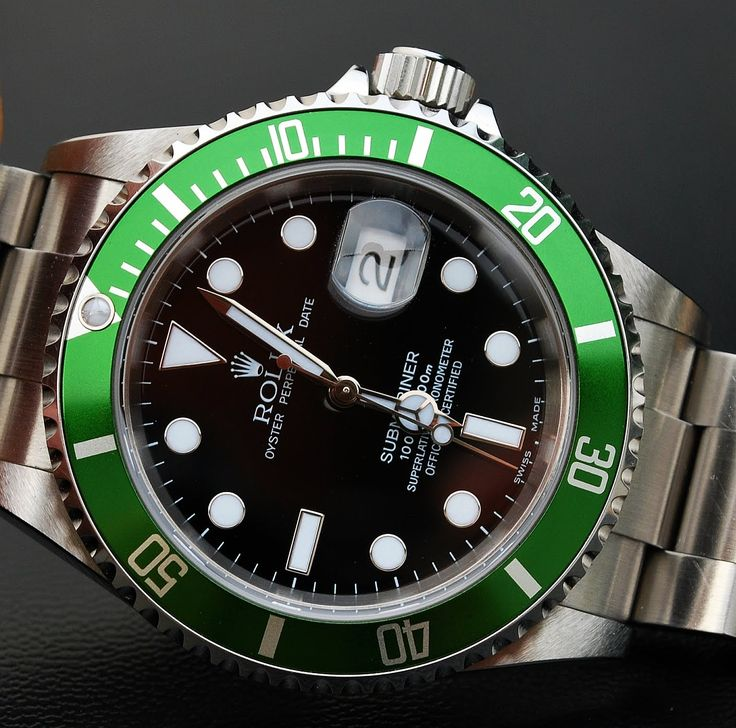 Rolex submariner - green 50th anniversary