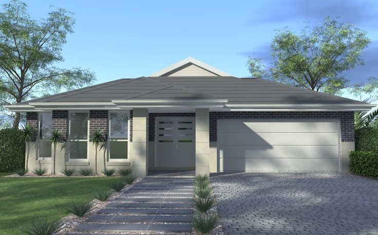 Wisdom Home Designs: Esperence - Portico Facade. Visit www.localbuilders... to find your ideal home design in New South Wales