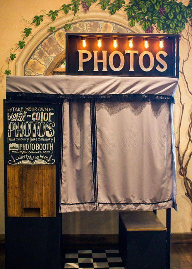 Un photobooth en photomaton