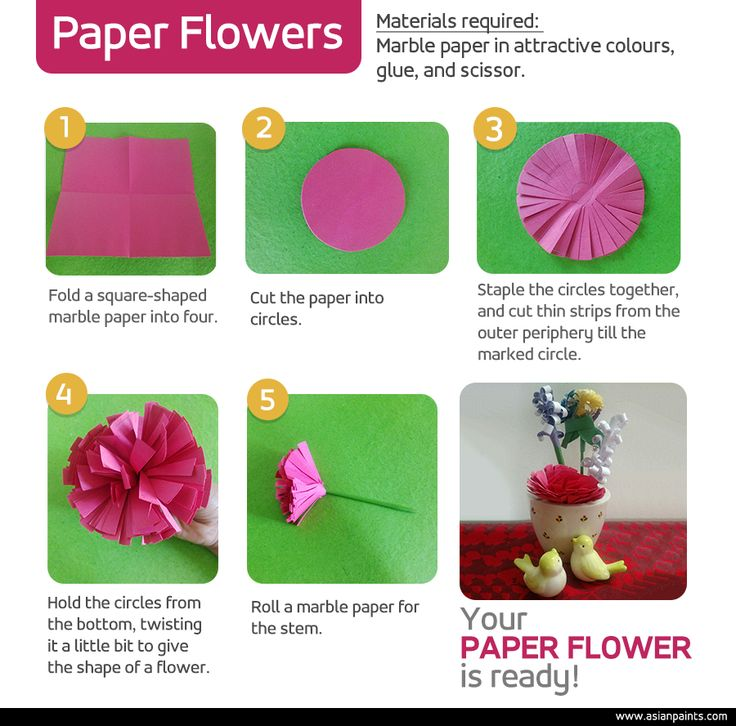 Accent any interior space with a colourful faux flower arrangement. We show you how to make these attractive flowers in a few simple steps. #DIY