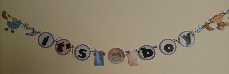 It's a Boy Banner www.frommissywithlove.com