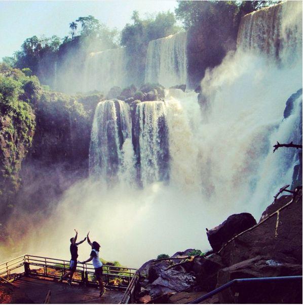 Good times n high fives at Iguazu Falls #WPNliveit #wpnwear #iguazufalls #water