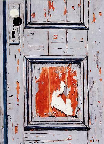 Burhan Dogancay (1929 - 2013) | Door in Need of Fresh Paint  - 1966