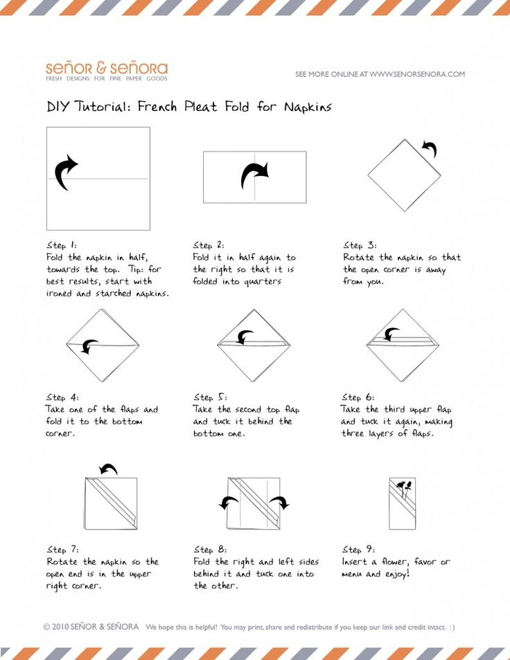 Flame Napkin Fold Step By Step Easy Directions With Pictures Diy
